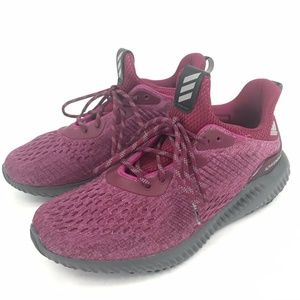 Adidas AlphaBouce Purple Gray Running Shoes 7.5